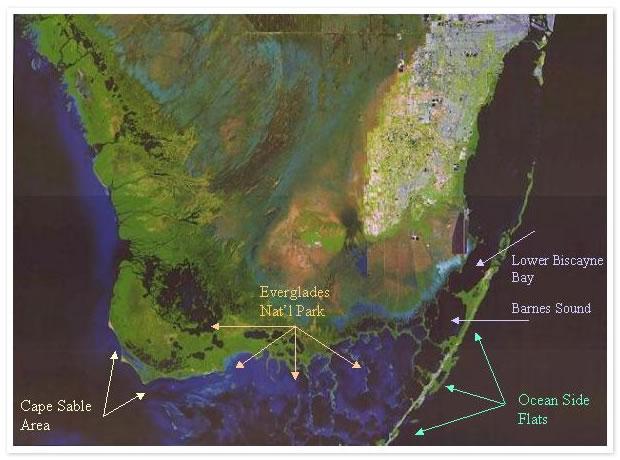 map of fishing areas off Florida Keys